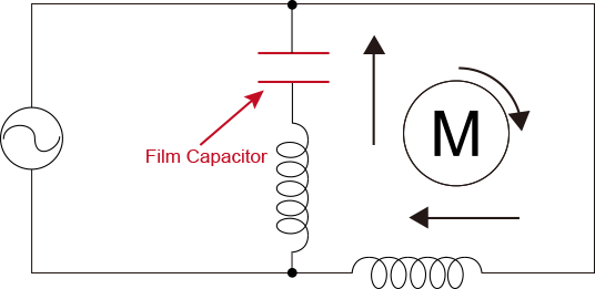 film capacitors  ac motor use  - industrial devices  u0026 solutions