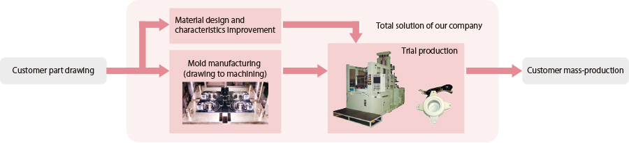 Total solution involving mold manufacturing